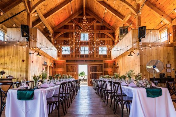 Inside Barn Wedding