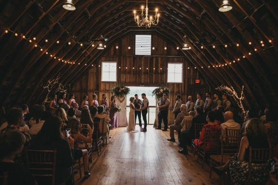 Brittani & Andrew's Ceremony in our Hayloft