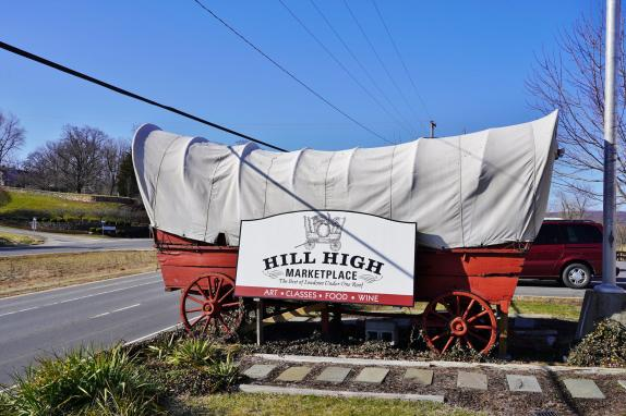 Hill High marketplace covered wagon image