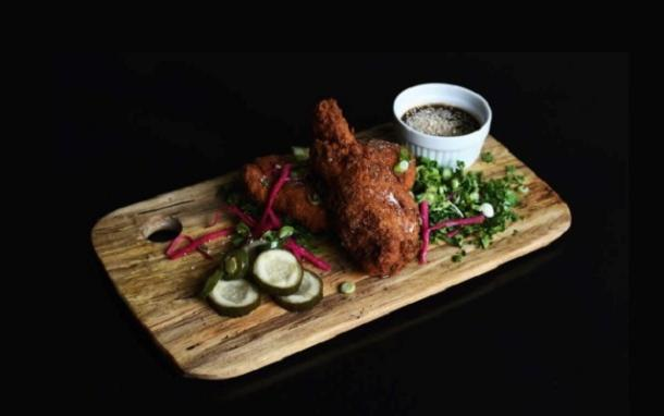 Chicken dish at root cellar