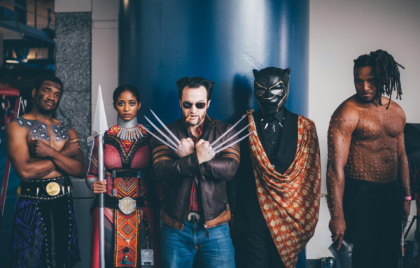X-Men and Black Panther at Comicpalooza