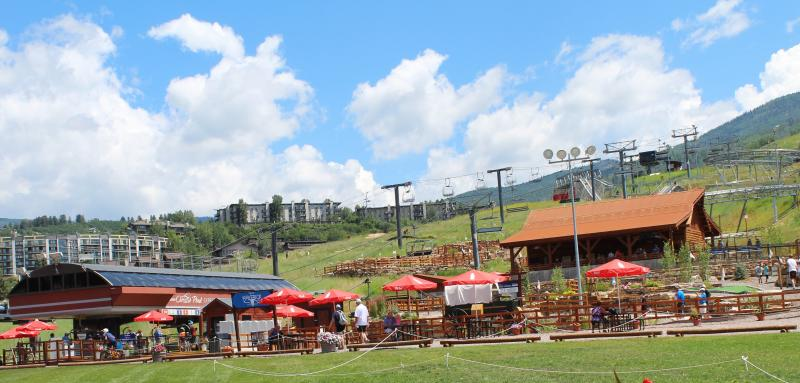 The Land Up at Steamboat Resort in the summer