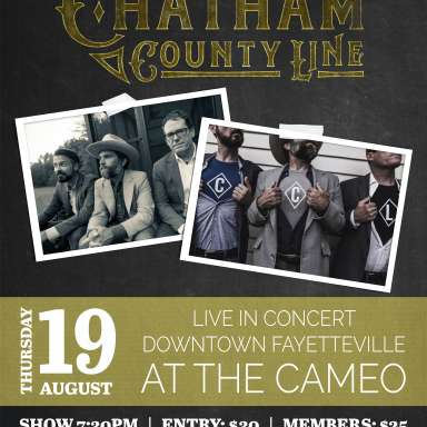 Chatham County Line in Concert at the CAMEO