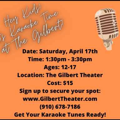 Youth Karaoke at The Gilbert Theater