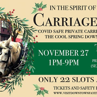 In the Spirit of Dickens Carriage Rides in Downtown Fayetteville