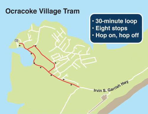 Ocracoke Village Tram Map