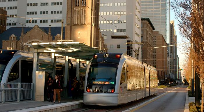 Houston Metro Rail Train