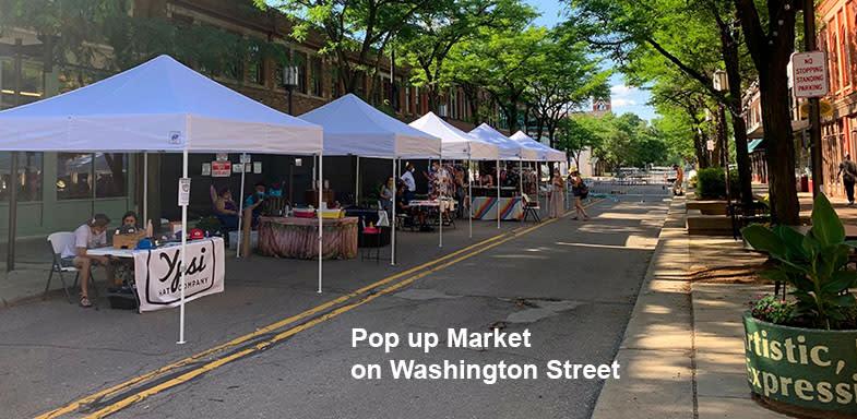 Pop Up Market on Washington Street