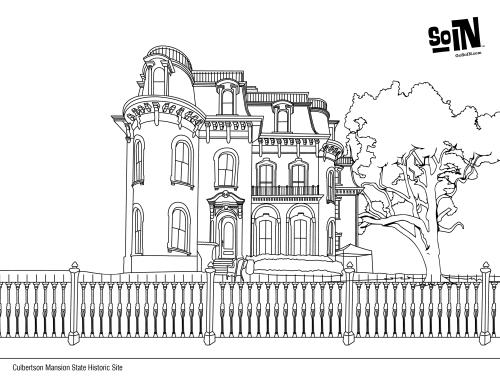 Culbertson Mansion Coloring Page