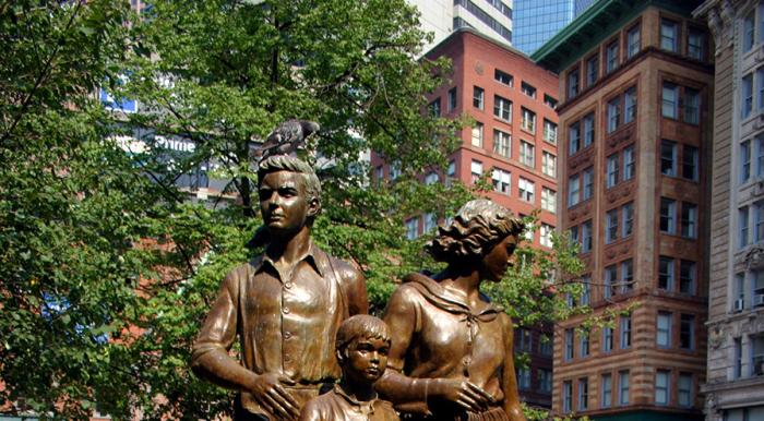 Irish Famine Statue in Boston