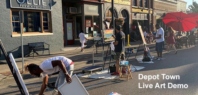 Depot Town Live Art Demo