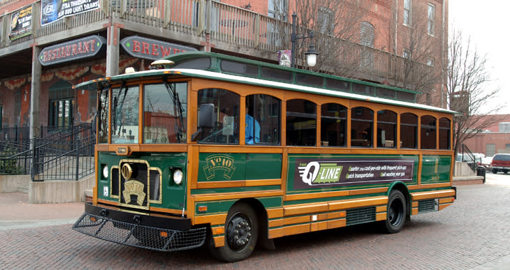 Q-Line Trolley in Wichita Kansas