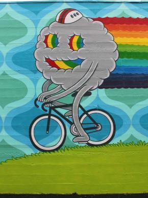Biking Mural-Credit Rather Severe