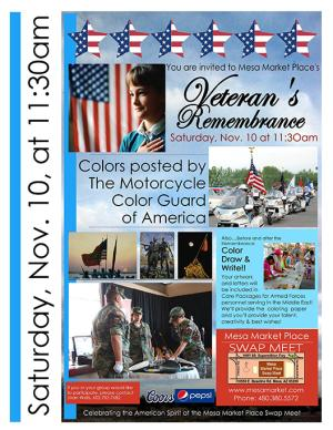 Mesa Market Place Swap Meet - Veterans Day Rememberance
