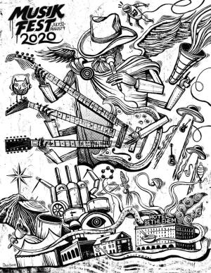 Musikfest poster coloring page contest