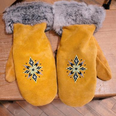 Handmade mittens from Teekca's Aboriginal Boutique