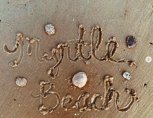 Myrtle Beach in the sand with shells