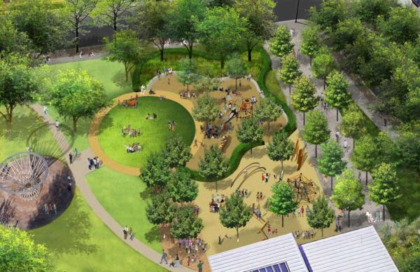 Discovery Green rendering of renovation 2019