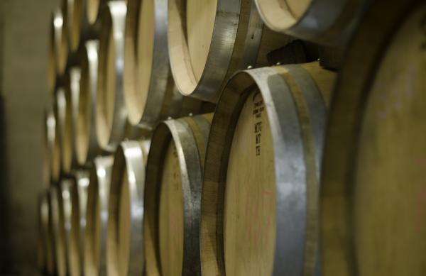 Wine Barrels at Heart and Hands Wine Company