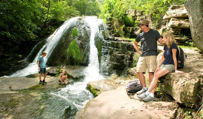 Roaring Run Falls Hiking Trail