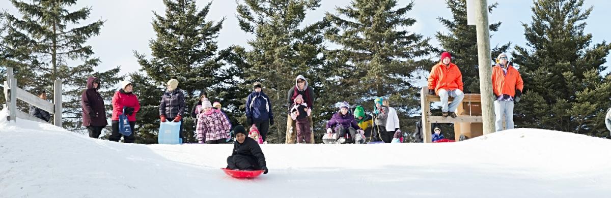 iverson sledding banner