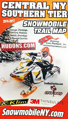 Snowmobile trail map brochure image