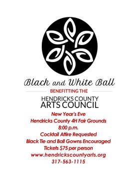 Support the arts at the first annual Black & White Ball.