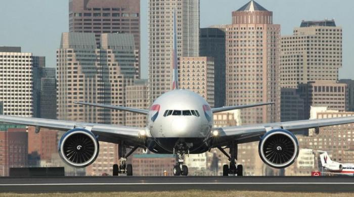 Airplane at Logan