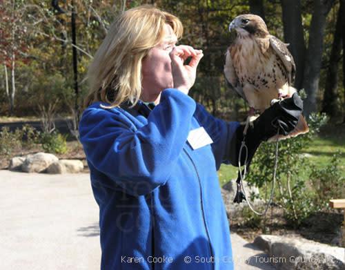 Owl & handler