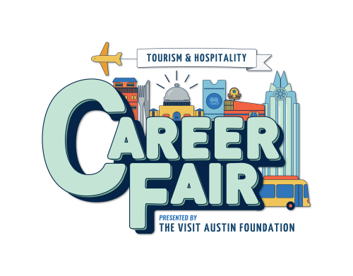 Visit Austin Foundation Tourism and Hospitality Career Fair Logo