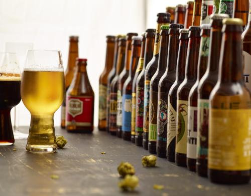 Row of Craft Beer