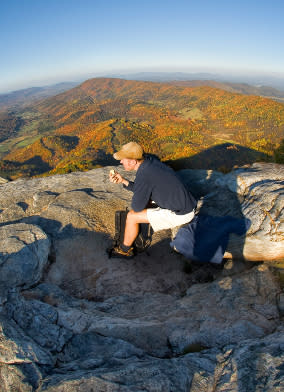 McAfee Knob Hiker in Virginia's Blue Ridge