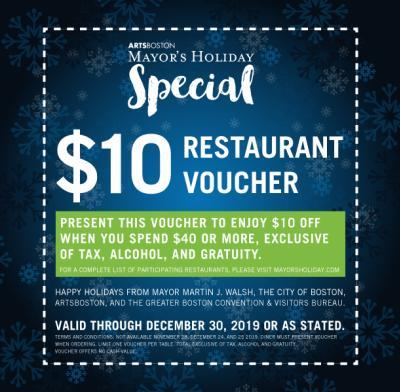 Mayor's Holiday Restaurant Voucher