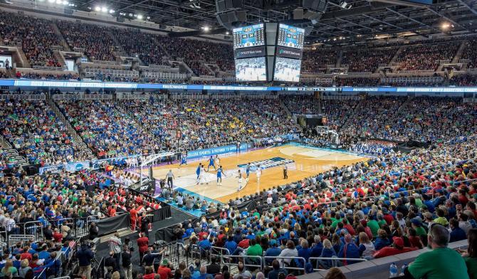 KU Men's Basketball take on Seton Hall for the NCAA March Madness tournament in Wichita