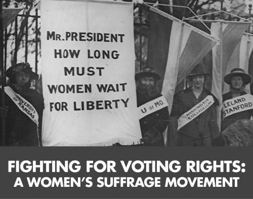 women's suffrage tile