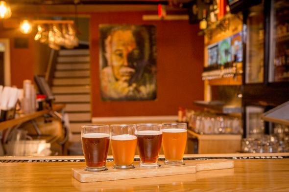 Careys Brew House bar