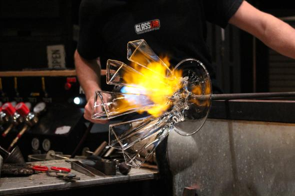 Steuben inspired Hot Glass Show
