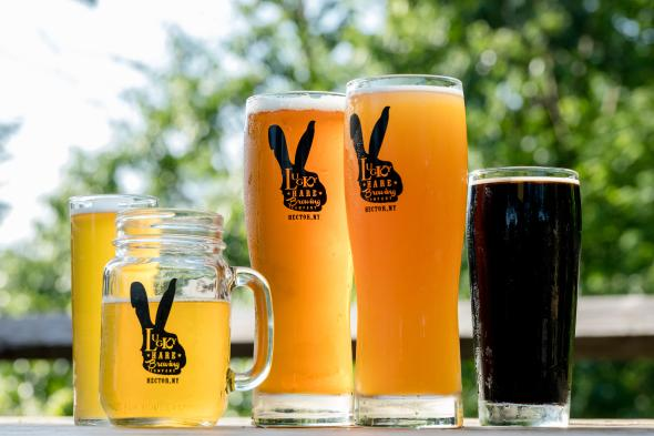 Luck Hare Brewing glasses
