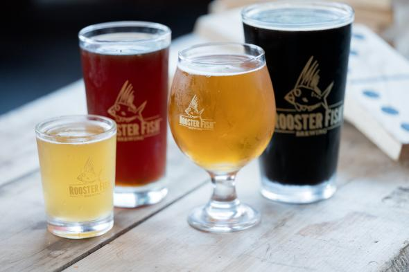 Rooster Fish Brewing Glasses