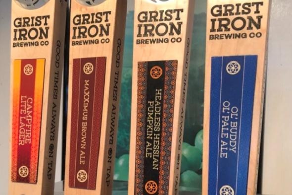 Craft beer on tap from Grist Iron Brewing Co.