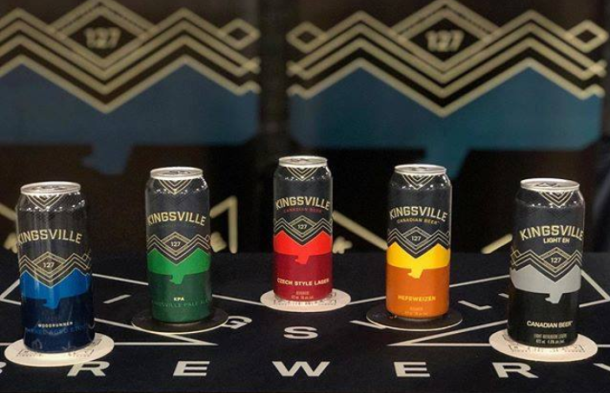 Kingsville brewery lineup cans