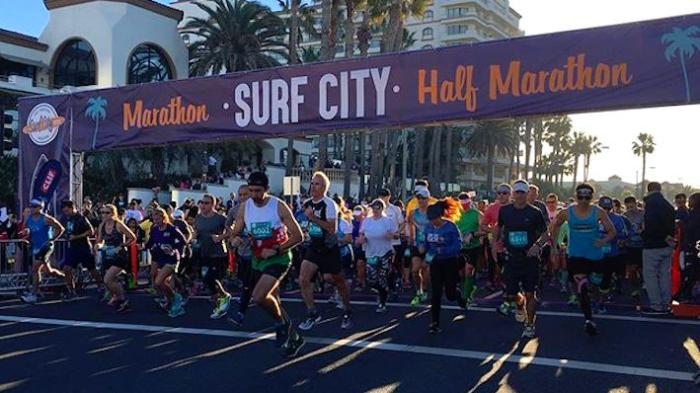 surf city marathon starting