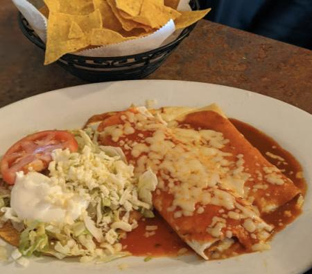enchiladas at cancun mexican restaurant newport ky