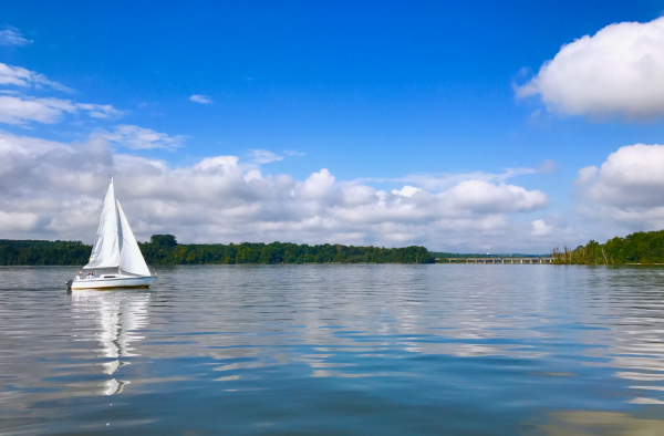 sailboat on open waters