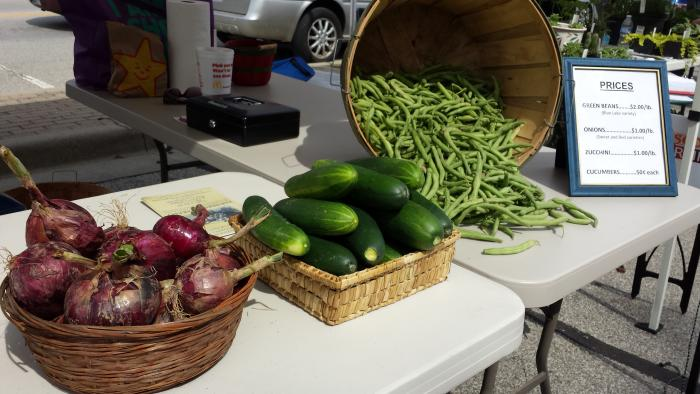 Summer produce at the Morgan County Farmers Market.