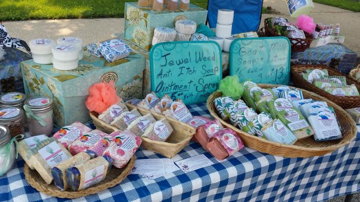 A variety of handmade artisan items are available at the Morgan County Farmers Market.