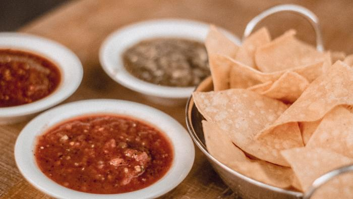 Chips and salsa at Cha Cha's Latin Kitchen in Irvine