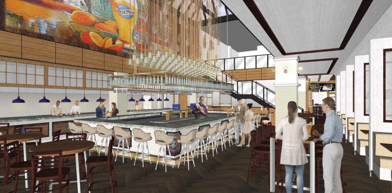Blue Moon Taphouse Interior Rendering