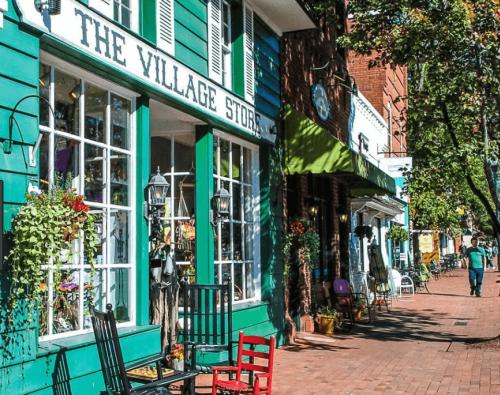 Village Store, Rocking chairs, windows