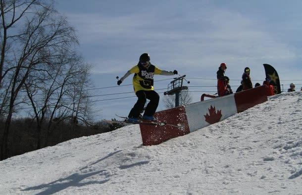 snowboarding at Boler